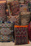 Traditional Moroccan Cushions for Sale in Old Square, Marrakech, Morocco, North Africa, Africa Fotografisk tryk af Martin Child