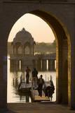 Tilon-Ki-Pol, Gadi Sagar, Jaisalmer, Western Rajasthan, India, Asia Photographic Print by Doug Pearson