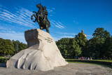 Bronze Horseman Statue in St. Petersburg, Russia, Europe Photographic Print by Michael Runkel