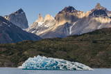 Iceberg on Lago Grey Lake in the Torres Del Paine National Park, Patagonia, Chile, South America Photographic Print by Michael Runkel