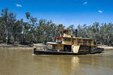 Old Steamer in Echuca on the Murray River, Victoria, Australia, Pacific Photographic Print by Michael Runkel