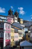 Colonial Architecture in the Pelourinho Fotografisk trykk av Michael Runkel