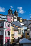 Colonial Architecture in the Pelourinho Photographic Print by Michael Runkel