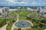 View from the Television Tower over Brasilia, Brazil, South America Fotografisk trykk av Michael Runkel