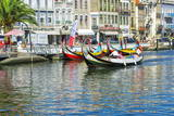 Gondol-Like Moliceiros Boats Navigating on the Central Channel, Aveiro, Beira, Portugal, Europe Photographic Print by G and M Therin-Weise