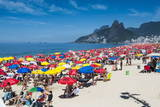 Famous Copacabana, Rio De Janeiro, Brazil, South America Photographic Print by Michael Runkel