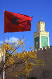 Place Lalla Aouda and the Minaret of the Lalla Aouda Mosque, Meknes, Morocco, North Africa, Africa Photographic Print by Neil Farrin