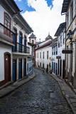 Historical Houses in the Old Mining Town of Ouro Preto Fotografisk trykk av Michael Runkel