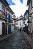 Historical Houses in the Old Mining Town of Ouro Preto Photographic Print by Michael Runkel