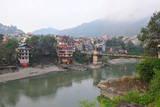 Mandi Town across Beas River, Himachal Pradesh, India, Asia Photographic Print by Bhaskar Krishnamurthy