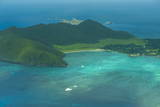 Aerial of View Lord Howe Island, UNESCO World Heritage Site, Australia, Tasman Sea, Pacific Photographic Print by Michael Runkel