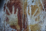 Monolithic Cave Paintings in Raja Ampat, West Papua, Indonesia, New Guinea, Southeast Asia, Asia Photographic Print by James Morgan