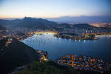 View from the Sugarloaf at Sunset, Rio De Janeiro, Brazil, South America Photographie par Michael Runkel