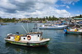 Little Fishing Boats in Chonchi, Chiloe, Chile, South America Photographic Print by Michael Runkel