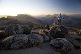 Hiker at Sunrise, Cathedral Provincial Park, British Columbia, Canada, North America Photographic Print by Colin Brynn