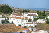 View over the Old City and the Ramparts, Obidos, Estremadura, Portugal, Europe Photographic Print by G and M Therin-Weise