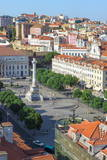 Aerial View of Rossio Square, Baixa, Lisbon, Portugal, Europe Photographic Print by G and M Therin-Weise