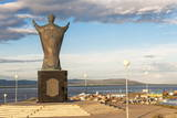 Saint Nicholas Statue, Siberian City Anadyr, Chukotka Province, Russian Far East, Eurasia Photographic Print by Gabrielle and Michel Therin-Weise