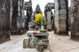 Shrine in Bayon Temple in Angkor Thom Photographic Print by Michael Nolan