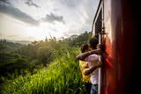 Riding the Train in Sri Lanka, Asia Photographic Print by James Morgan
