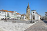 Church of St. John the Baptist and Republic Plaza, Tomar, Ribatejo, Portugal, Europe Photographic Print by G and M Therin-Weise