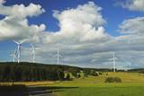Wind Turbines, Westerwald, Rhineland-Palatinate, Germany, Europe Photographic Print by Jochen Schlenker