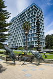Kangaroo Statue in Front of the City of Perth Council, Perth, Western Australia, Australia, Pacific Photographic Print by Michael Runkel