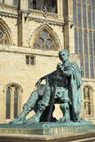Statue of Roman Emperor Constantine the Great, York, Yorkshire, England, United Kingdom, Europe Photographic Print by Peter Richardson