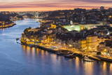 Douro River and Ribeira at Sunset, UNESCO World Heritage Site, Oporto, Portugal, Europe Photographic Print by G and M Therin-Weise