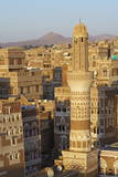 Elevated View of the Old City of Sanaa, UNESCO World Heritage Site, Yemen, Middle East Photographic Print by Bruno Morandi