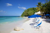 Beach and Sunshades, Long Bay, Antigua, Leeward Islands, West Indies, Caribbean, Central America Photographic Print by Frank Fell