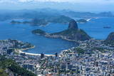 Outlook from the Christo Statue over Rio De Janeiro and the Famous Sugar Loaf Photographic Print by Michael Runkel