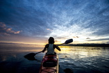 Sea Kayaking in Raja Ampat, West Papua, Indonesia, New Guinea, Southeast Asia, Asia Photographic Print by James Morgan