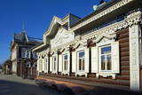 Wooden Architecture, the House of Europe, Irkutsk, Siberia, Russia, Eurasia Photographic Print by Bruno Morandi