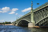 Trinity Bridge, St. Petersburg, Russia, Europe Photographic Print by Michael Runkel