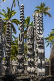 Wooden Statues in the Puuhonua O Honaunau National Historical Park Photographic Print by Michael Runkel