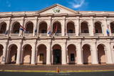 The Pink Cabildo, Museum of the National Congress in Asuncion, Paraguay, South America Photographic Print by Michael Runkel