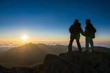 Tourists in Backlight Waiting for Sunset. Haleakala National Park Photographic Print by Michael Runkel