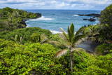 Pailoa Beach at the Waianapanapa State Park Along the Road to Hana Photographic Print by Michael Runkel