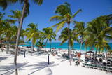 Beach and Palm Trees, Long Bay, Antigua, Leeward Islands, West Indies, Caribbean, Central America Photographic Print by Frank Fell