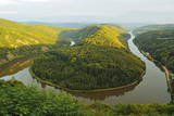 Saar River Loop at Mettlach, Rhineland-Palatinate, Germany, Europe Photographic Print by Jochen Schlenker