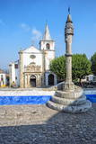 Santa Maria Church and Pillory, Obidos, Estremadura, Portugal, Europe Photographic Print by G and M Therin-Weise