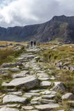 Hikers in the Ogwen Valley (Dyffryn Ogwen) Photographic Print by Charlie Harding