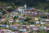 View over Colourful Houses in Cachoeira, Bahia, Brazil, South America Photographic Print by Michael Runkel