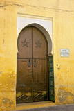 Door to Mosque, Medina, Meknes, Morocco, North Africa, Africa Photographic Print by Neil Farrin