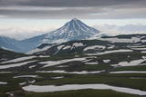 Aerial of Vilyuchinsk Volcano, Kamchatka, Russia, Eurasia Photographic Print by Michael Runkel