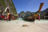 Maya Bay with Long-Tail Boats, Phi Phi Lay Island, Krabi Province, Thailand, Southeast Asia, Asia Photographic Print by Stuart Black