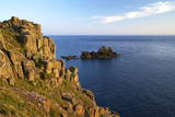 Evening Sunshine on Cliffs, Lands End, Cornwall, England, United Kingdom, Europe Photographic Print by Peter Barritt