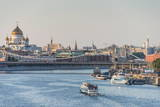 View over Moscow and the Moskva River (Moscow River) at Sunset, Russia, Europe Photographic Print by Michael Runkel