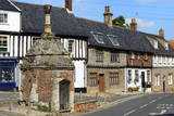 Village Pump and Medieval Timber Framed Houses Photographic Print by Peter Richardson